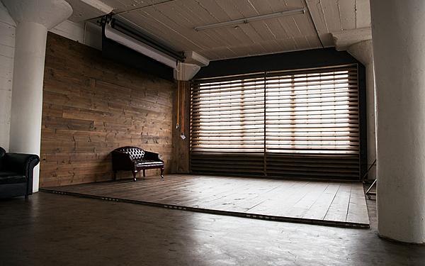 Art 4 - Downtown Loft with Dark Wood Corner, Red Furniture