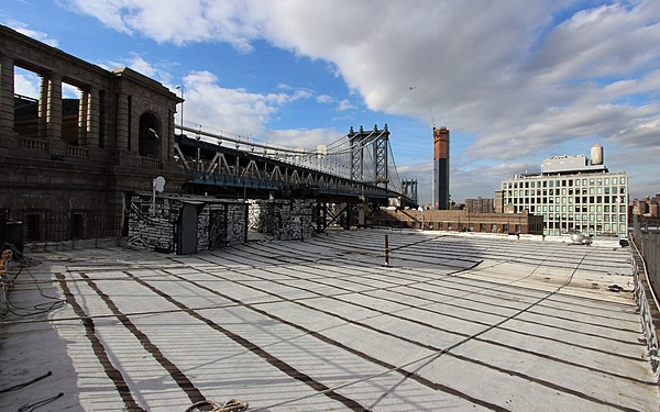 Dumbo Rooftop Directly Adjacent to Manhattan Bridge