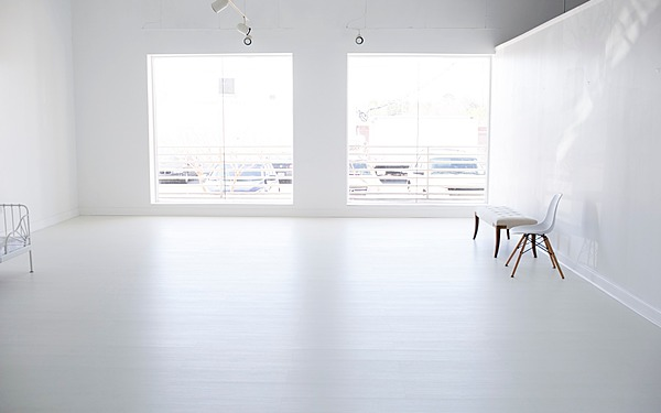 All-white, natural light photo studio & event space in Buckhead