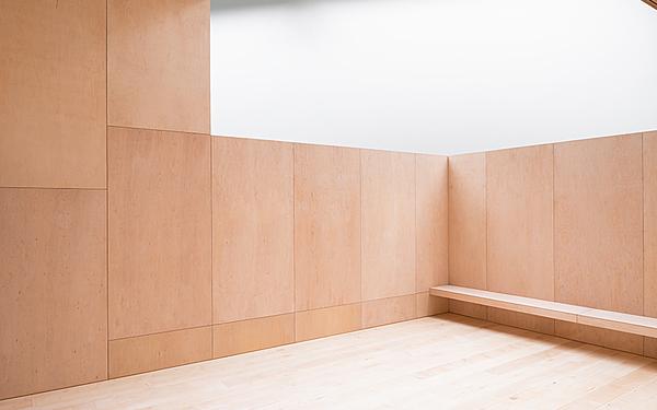 Striking Wood-Panelled Indoor Terrace
