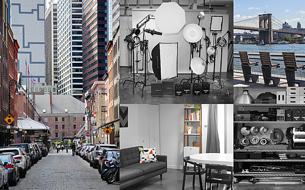 Manhattan photo studio. Grip included. Located in the historic South Street Seaport - near many outdoor shooting locations.