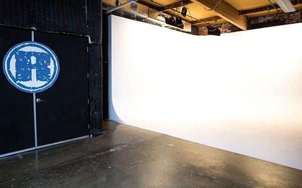 Exposed Brick with White Cyc Studio Space